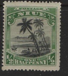 NIUE, 41, HINGED, 1925-27, Landing of Captain Cook