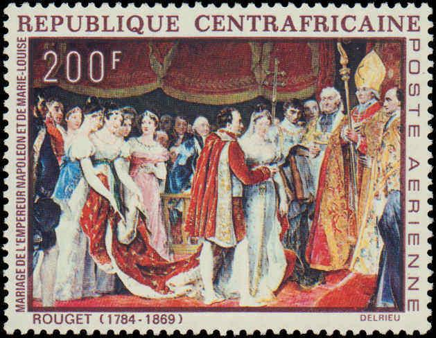 Central Africian Republic #C75-C77, Complete Set(3), Never Hinged