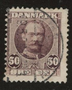DENMARK  Scott 77 used 1907 stamp