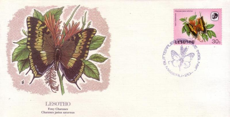Lesotho FDC SC# 431 Foxy Charaxes Butterfly L218