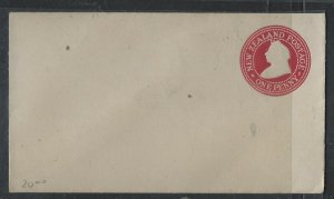 NEW ZEALAND COVER (PP1202B)  QV 1D  PSE UNUSED