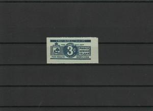 Prince Edward Island Tobacco Tax Stamp 1942 3 Cents ref 22686