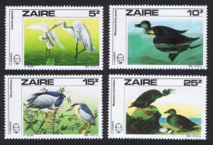 Zaire Birds Audubon 4v SG#1238-1241 MI#906-907 CV£8.2