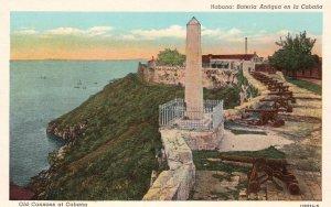Cuba Postcard Havana Old Cannons at Cabaña Fort Unused