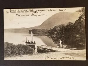 1909 Killarney Ireland to Poughkeepsie New York Real Picture Postcard Cover