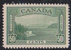 Canada USC #244 1938 50c Vancouver Harbour - VF-LH Cat. $60.00