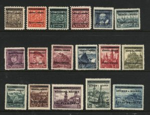 Czechoslovakia B&M 2-9,11-19   Mint NH VF 1939 PD