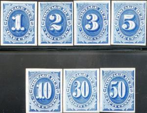 #J1TC4e-#7TC4e ATLANTA TRIAL COLOR PLATE PROOFS ON CARD F-VF BN6232