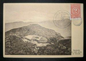 1912 Coffee Farm Near Cucuta Columbia to Belgium Real Picture Postcard Cover