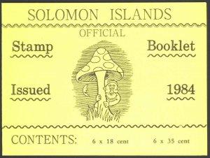 Solomon Islands Sc# SB6 SG# SB6 MNH Booklet 1984 Fungi