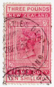 (I.B) New Zealand Revenue : Stamp Duty £3 10/-