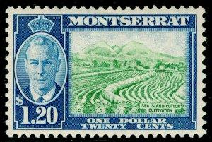 MONTSERRAT SG133, $1.20 yellow-green & blue, LH MINT.