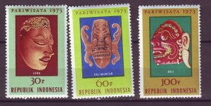 J25053 JLstamps 1973 indonesia set mnh #842-4 masks