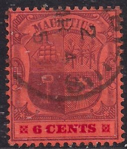 Mauritius 1900 - 05 KEV11 6ct Purple & Carmine Red used SG 146 ( D12 )