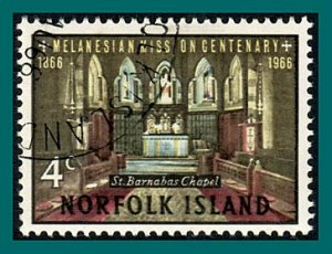 Norfolk Island 1966 Melanesian Mission, 4c used  #97,SG74