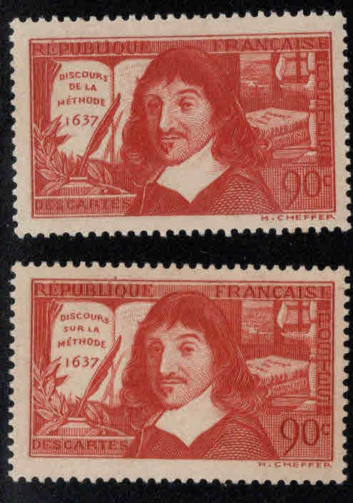 FRANCE Scott 330-331 MH* Descartes set