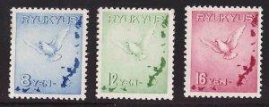 RYUKYU Scott C1-C3 MNH**H* complete airmail set