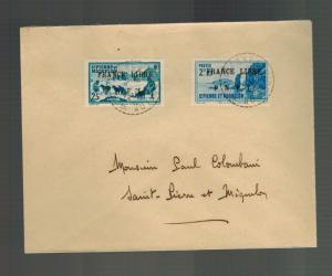 1942 St Pierre Miquelon Cover Local # 229 245