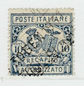 A8P27F27 Italia Italy 1928 Authorized Delivery Stamp 10c Perf 14 used