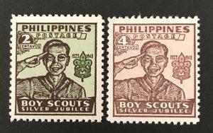 Philippines 1948 #528a,29a, MNH, CV $4.75