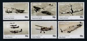 [81105] Gibraltar 2010 Second World war Battle of Britain Aircrafts MNH