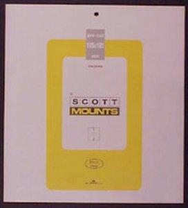 Scott/Prinz Pre-Cut Souvenir Sheets Small Panes Stamp Mounts 185x181 #1007 Black