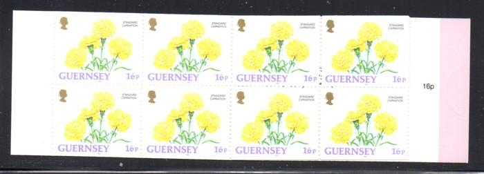 Guernsey 1993 16p Carnation stamp booklet NH #486b