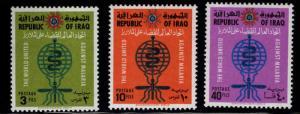 IRAQ Scott 314-316 MH*  1962 WHO set