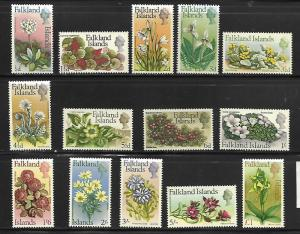 FALKLAND ISLANDS  166-179  MNH    FLOWER SET, d