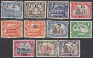 Aden 36-46, SG36-46 MNH (see Details) CV $82.50