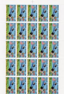 Wallis and Futuna Islands 1994 Sc#457 World Cup USA Mini-Sheetlet (25) Unfolded