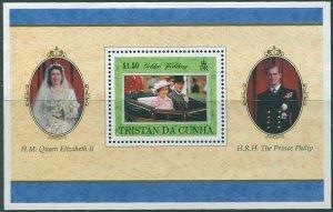 Tristan Da Cunha 1997 SG630 Golden Wedding QEII MS MNH