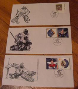 LOT#4 -Canada Special Hockey Stamp show cover-Qtt3 -Goaler ONLY --Value$60.00