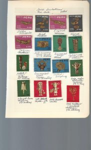 15 Quadrille Pages containing MOGNH stamps from Peru