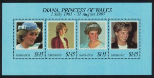 Barbados Diana Princess of Wales Commemoration MS SG#MS1121