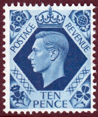 GB KGVI 1937 10d Turquoise-Blue SG474 Mint Never Hinged MNH UMM