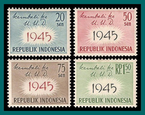 Indonesia 1959 Constitution, MNH  #479-482,SG810-SG813