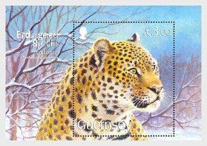 2009 Guernsey Amur Leopard SS  (Scott 1028) MNH