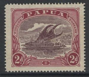 PAPUA SG96a 1931 2d DEEP BROWN-PURPLE & LAKE MTD MINT