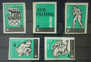 Match Box Labels ! sport olympic games roma 1960 horse racing box GN42