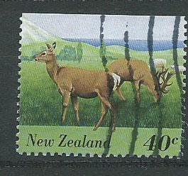 New Zealand SG 1895  VFU ex booklet top margin imperf