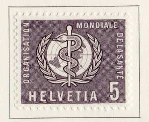 Switzerland Helvetia 1957 Early Issue Fine Mint Hinged 5c. NW-170853