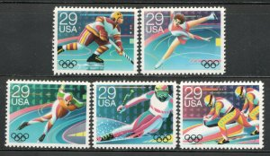2611-15 Winter Olympics Set Of 5 Mint/nh Free Shipping (A-428)