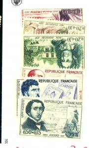 FRANCE #B341-6 MINT FVF OG LH Cat $24