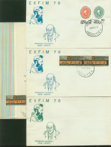 MEXICO MEXICO-ISRAEL PHILATELIC EXHIB, 3 COVERS WITH SPECIAL POSTMARK VF. (161)