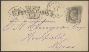 TEXAS GRAYSON COUNTY (1884 Sherman)