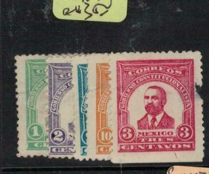 Mexico 1914 Constitutional Government Set of 5 MNG (6ewy)