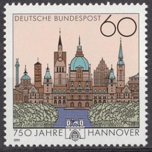 1991 Germany Scott 1621 Hanover 750th Anniversary MNH