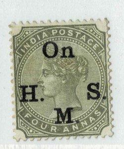 India- 1883-99- SERVICE ON H SM TYPE 09 SG NO 044 HCV