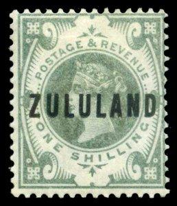 Zululand 1888 QV 1s green very fine mint. SG 10. Sc 10.